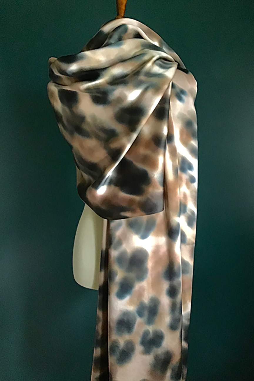 Rory Worby Washed Leopard Silk Scarf