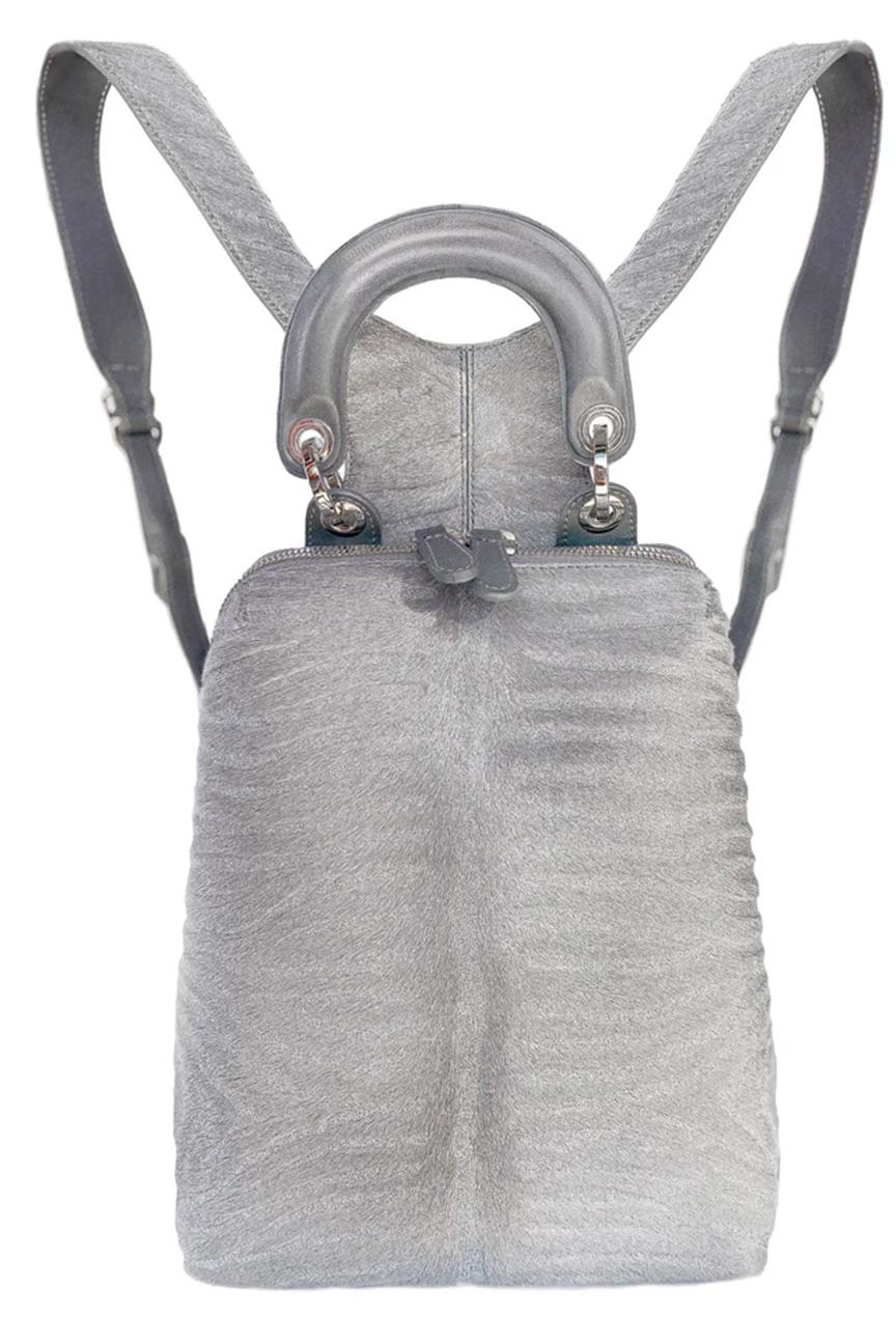 Thalé Blanc Silver Hair Calf Backpack