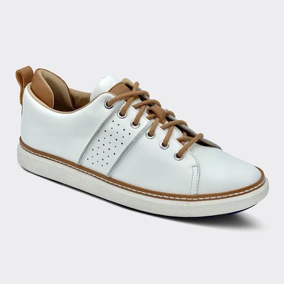 Harmony783 Women's White Leather Walker