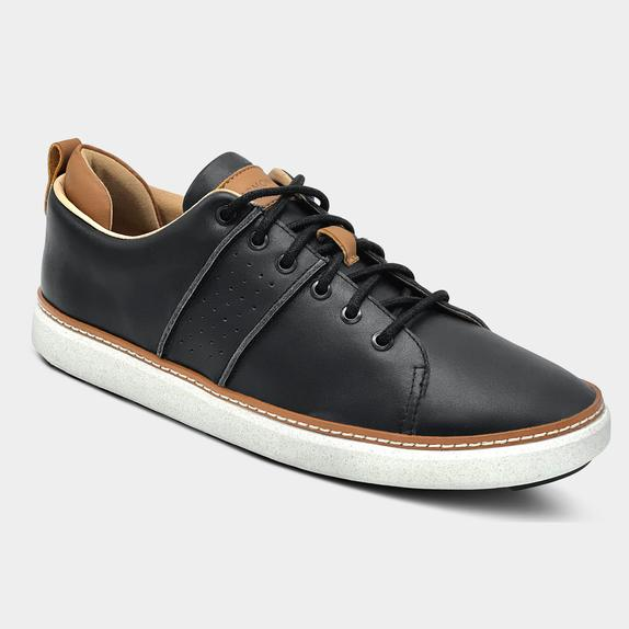 Harmony783 Men's Black Leather Walker